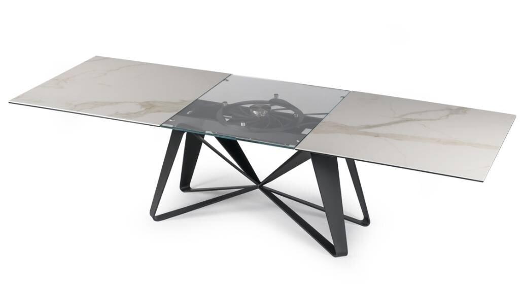 שולחן אוכל זכוכית Flocon