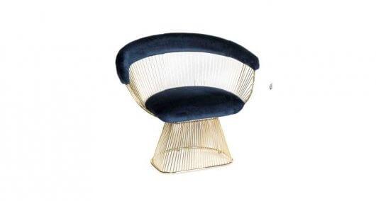 כסא מעוצב מרופד לסלון