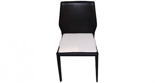 כסא נאפל שחור כיסוי מושב לבן