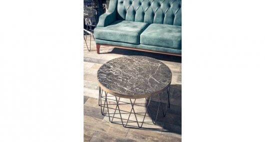 שולחן יוקרתי לסלון מעוגל