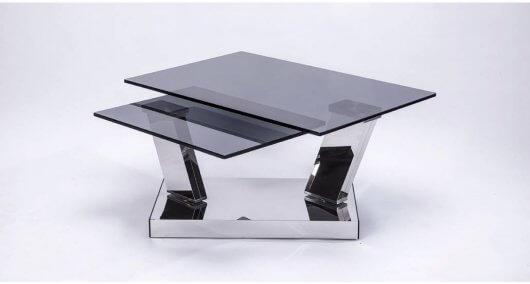 שולחן קפה לסלון מזכוכית
